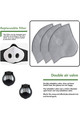 Wholesale 5 Pack - Activated Carbon Replacements Filters for Sport Face Masks