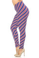 Wholesale Buttery Soft Spiral Stars and Stripes Plus Size Leggings