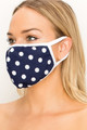 Wholesale Women's Crepe Polka Dot Face Mask - Made in the USA - 3 Colors