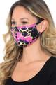Wholesale Neon Colorcade Metallic Gold Fashion Face Mask - Made in USA