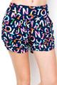 Wholesale Buttery Soft Alphabet on Blue Harem Shorts