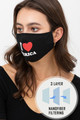 Wholesale I Love America Face Mask with Built In Filter and Nose Bar