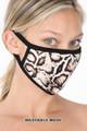 Brown Side Wholesale Snakeskin Face Mask - Imported