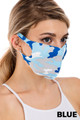 Wholesale Bling Sequin Textured Plaid Fashion Face Mask - Made in USA