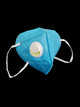 Wholesale Blue KN95 Face Mask with Air Valve