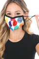 Wholesale Colorful Rose Graphic Print Face Mask
