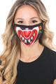 Wholesale Clown Graphic Print Face Mask
