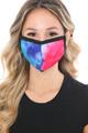Wholesale Split Tie Dye Graphic Print Fashion Face Mask