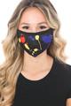 Wholesale Black Splatter Paint Graphic Print Face Mask