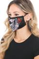 Wholesale Sugar Skull Rose Graphic Print Face Mask