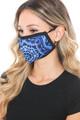 Wholesale Blue Mandala Graphic Print Face Mask