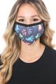 Wholesale Animal Tracks Graphic Print Face Mask