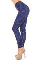 Wholesale Creamy Soft Spiderwebs Halloween Extra Plus Size Leggings - 3X-5X - By USA Fashion™