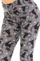 Wholesale Buttery Soft Bow-tie Black Kitty Cats Kids Leggings
