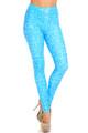 Wholesale Creamy Soft Stained Blue Math Plus Size Leggings - USA Fashion™