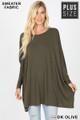 Wholesale Oversized Round Neck Poncho Plus Size Sweater