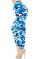 Wholesale Buttery Soft Blue Camouflage Joggers - EEVEE