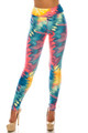 Wholesale Buttery Soft Multi-Color-Bold Tie Dye High Waisted Leggings - Plus Size