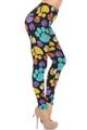 Wholesale Creamy Soft Colorful Paw Print Leggings - USA Fashion™
