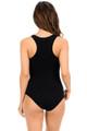Black Wholesale Basic Scoop Neck Cotton Bodysuit