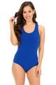 Blue Wholesale Basic Scoop Neck Cotton Bodysuit