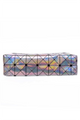 Silver Holographic Triangles Leather Print Pencil Case - 7 Styles