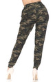 Wholesale Buttery Soft Green Camouflage Joggers - New Mix
