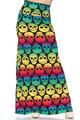Wholesale Buttery Soft Rainbow Skull Maxi Skirt
