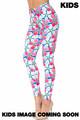 Wholesale Creamy Soft Pink and Blue Sunshine Floral Kids Leggings - USA Fashion™