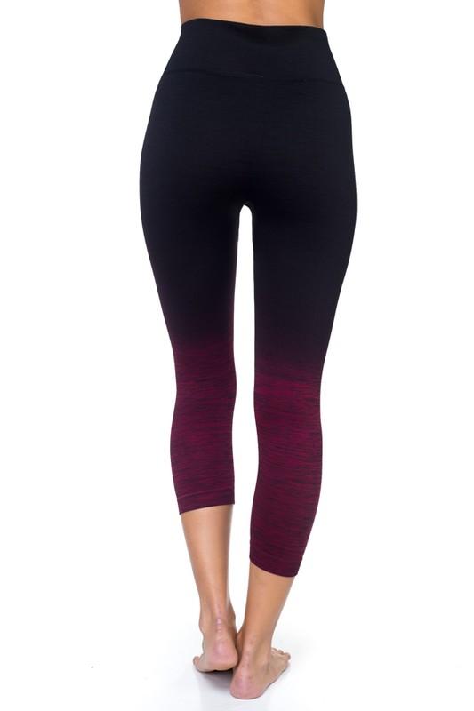 d30ccbf01f25e8 Wholesale Body Flatter Color Blend Workout Capris | Leggings ...