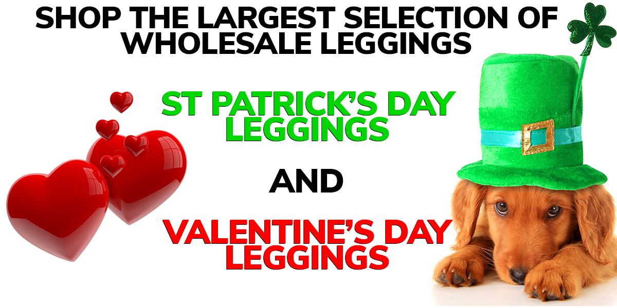 Shop Saint Patricks Day And Valentines Leggings