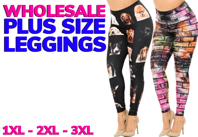 Shop Wholesale Plus Size Leggings