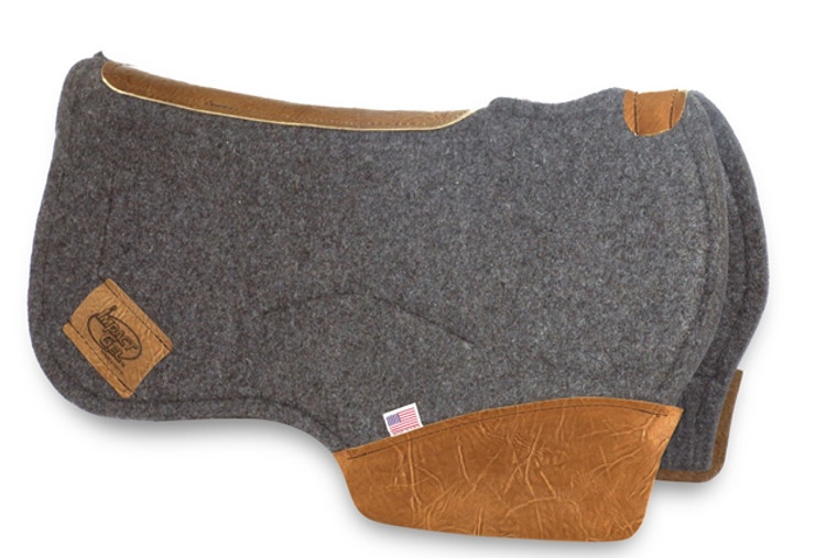 Impact Gel Contoured Barrel Racing Pad - Gray