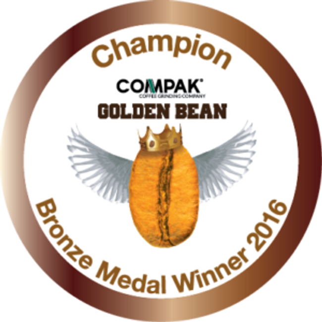 Compak Golden Bean North America Medals