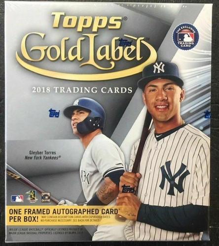 2018 Topps Gold Label Baseball Hobby 16 Box Case