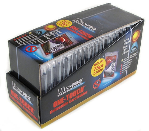 Ultra Pro 75pt Magnetic One Touch Card Holder 25 Count Box