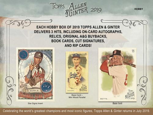 2019 Topps Allen & Ginter Baseball Hobby Box