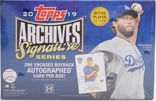 2019 Topps Archives Signature Series Baseball Box