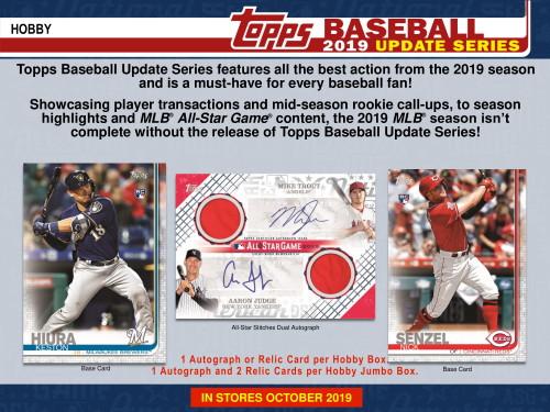 2019 Topps Update Series Baseball Hobby 12 Box Case