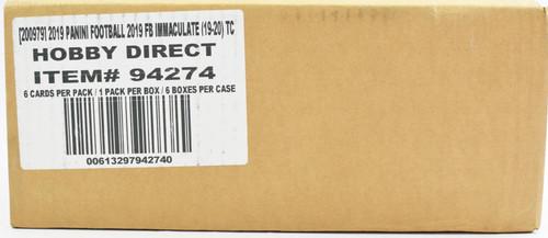 2019 Panini Immaculate Football Hobby 6 Box Case