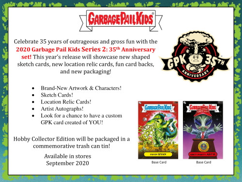 2020 Topps Garbage Pail Kids Series 2: 35th Anniversary Hobby 8 Box Case