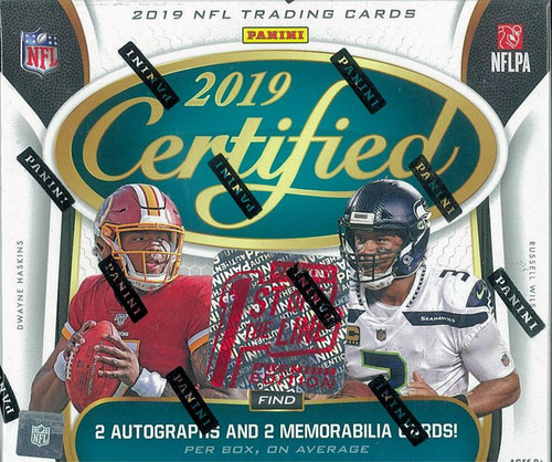 2019 Panini Certified Football 1st Off The Line Premium Edition Box
