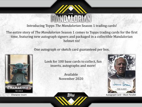 2020 Topps Star Wars The Mandalorian Season 1 Hobby 12 Box Case
