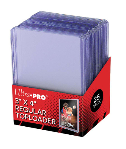 "Ultra Pro 3"" X 4"" Clear Regular Toploader 25ct Pack"