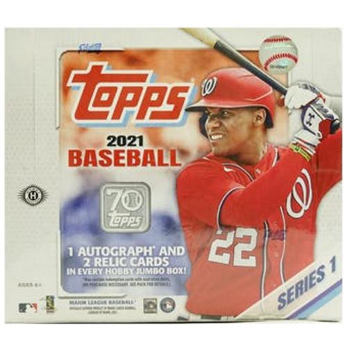 2021 Topps Series 1 Baseball Hobby Jumbo Box