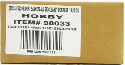 2019/20 Panini Clearly Donruss Basketball Hobby 12 Box Case