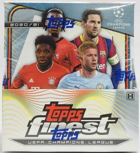 2020/21 Topps Finest UEFA Champions League Soccer Hobby 8 Box Case
