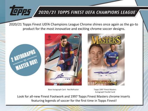 2020/21 Topps Finest UEFA Champions League Soccer Hobby Box