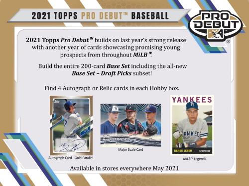 2021 Topps Pro Debut Baseball Hobby Box
