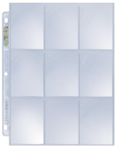 Ultra Pro 9-Pocket Platinum Pages for Standard Size Trading Cards 100 Count Box